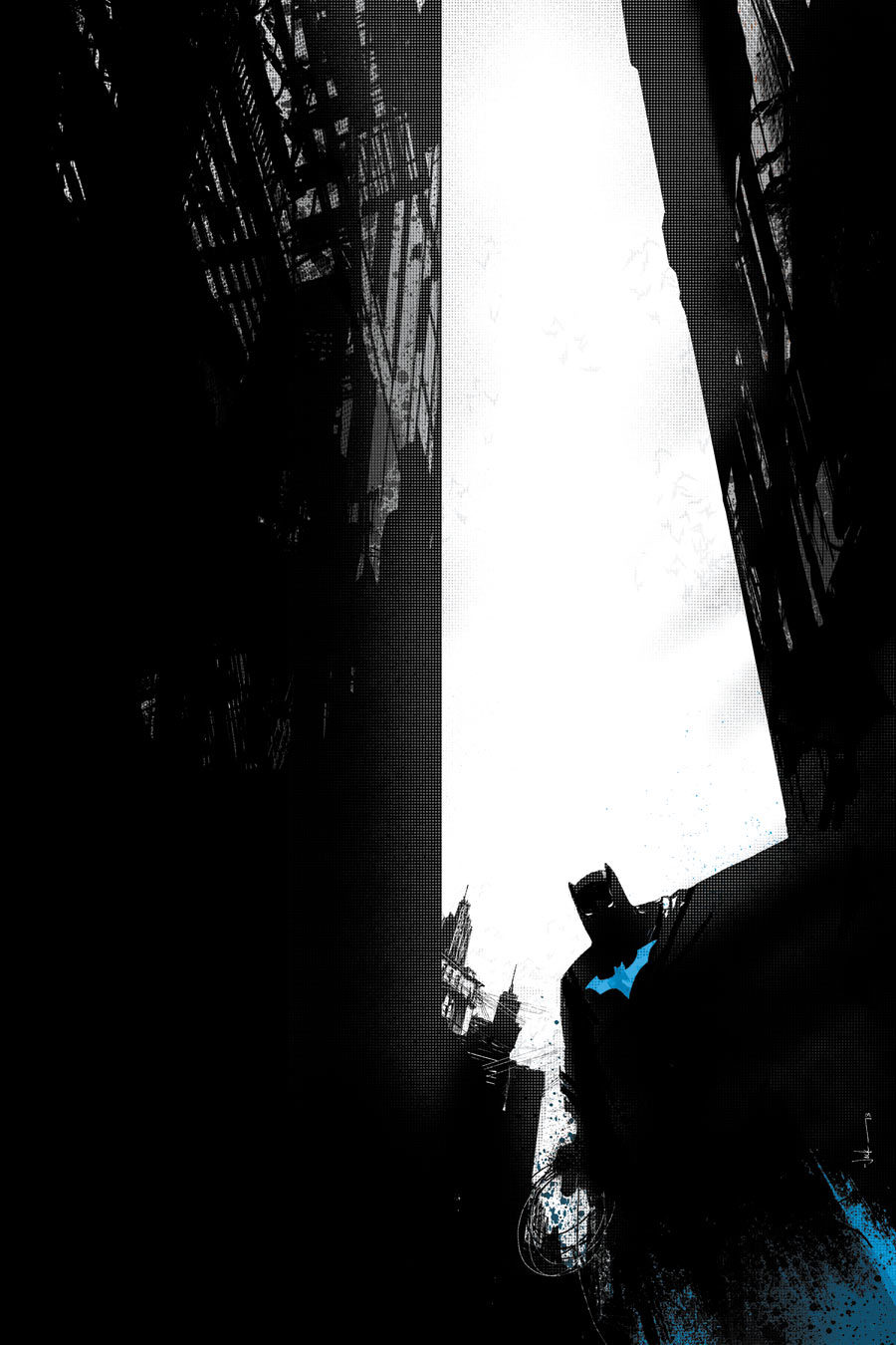 DC comics for July 2013: this is the cover for Batman Annual #2, drawn by Jock, which hides the focus within the shadows.