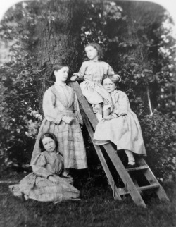 Lewis Carroll, Margaret, Mary, Lilian, and Ethel Brodie (Brodies and Step-ladder), 21 June 1861