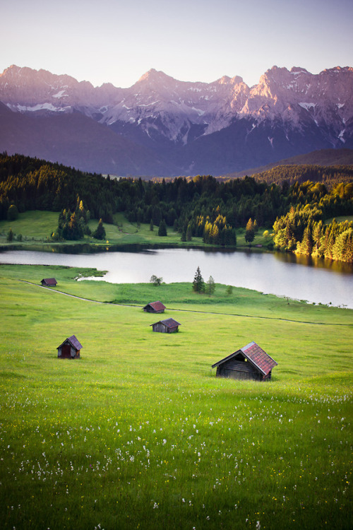 travelingcolors:  Good morning Karwendel | Germany (by Dennis_Fischer)   Shiiiiiit. I get a Howl's Moving Castle kinda vibe from this image. The German landscape is a babe