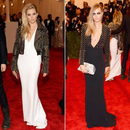 Best (& most theme-appropriate!) looks of 2013's Met Gala: Sienna Miller and Cara Delevingne in Burberry.