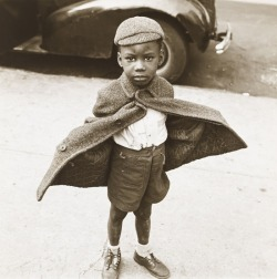 blackhistoryalbum:  SUPER BOY | 1949 Butterfly Boy, New York, 1949. By Jerome Liebling. Courtesy of The Jewish Museum, New York. Black History Album, The Way We WereFollow us on TUMBLR  PINTEREST  FACEBOOK  TWITTER