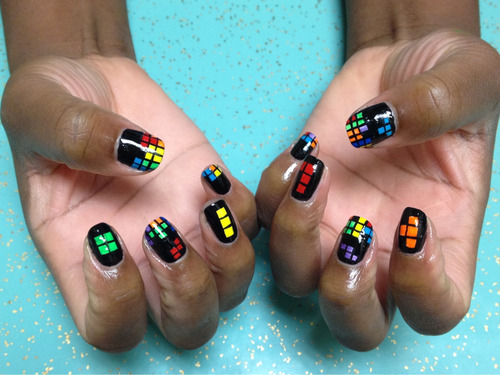 nailsyall:  Tetris nails