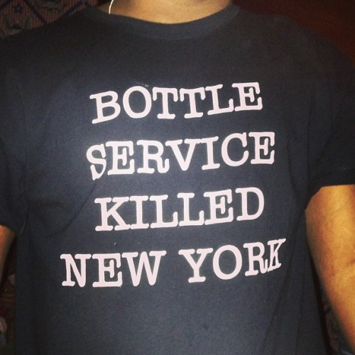 Bottle service killed New York #nyc  (at The Anchor)