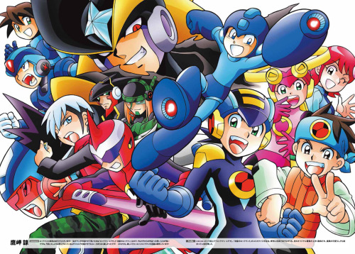 paradym9:   By Ryo Takamisaki, author of the Mega Man NT Warrior manga.