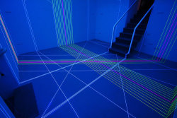 Thread Installations That Look Like They're Straight Out Of Tron By Jordan Kushins, fastcodesign.com Jeongmoon Choi transforms empty rooms into elegant neon labyrinths using fluorescent cords.For those of you who've ever fan­ta­sized of mak­ing like a young Jeff Bridges trans­port­ed into the Tron main­frame, or expe­ri­enc­ing an epic laser s…