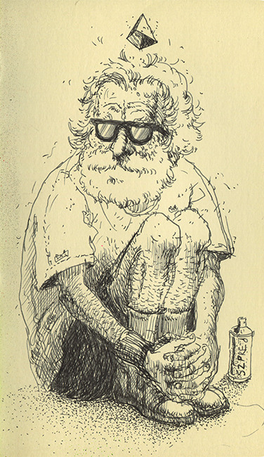 Marek Szymczak Teacher, 2013, ink on paper http://marekszymczak.tumblr.com/