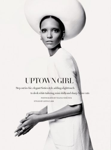 opaqueglitter:  Uptown GirlUK Harper's Bazaar February 2013Photographer: Yelena YemchukStylist: Leith ClarkModel: Cora Emmanuel More from the editorial.