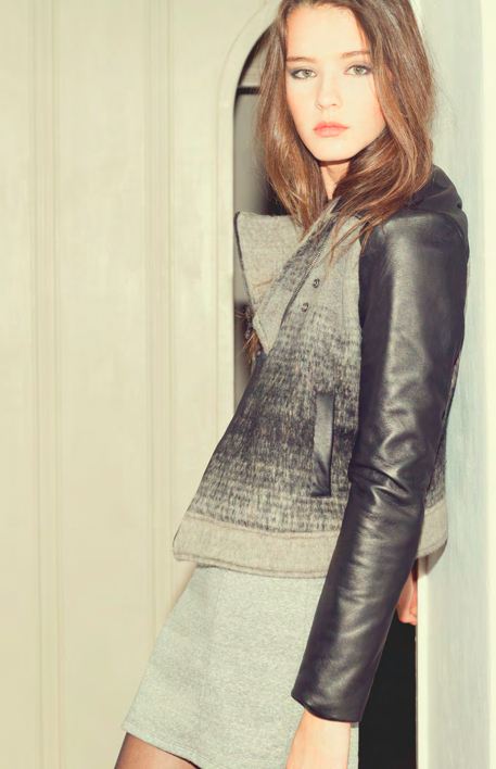 A sneak peek at the Love Zooey Holiday '13 line. Such a hot jacket!