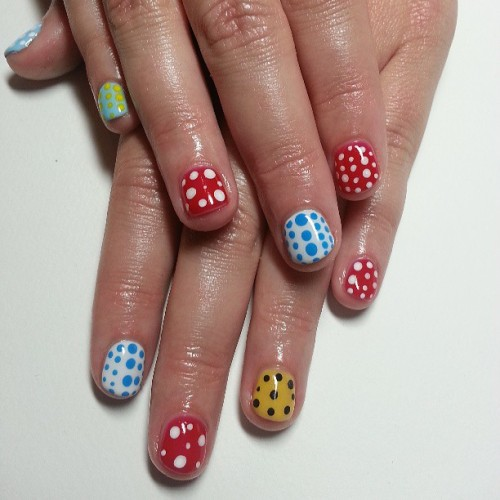 Feeling dotty! #nail #nailart #nails #style #fashion #cute