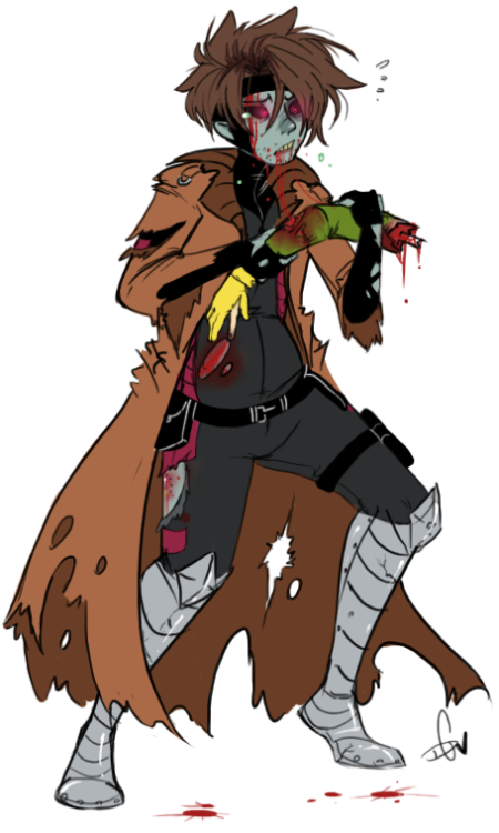 Regretful zombie Gambit….cause I had a Marvel Zombie based dream last night and felt this would be appropriate.Also, sorry I'm working so slow today OTL.