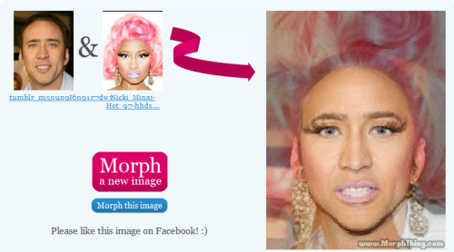 thatashhole:  facepalmx2combo:  i present to you nicolas minaj  Tears are actually streaming my face right now.   Can't breathe omg