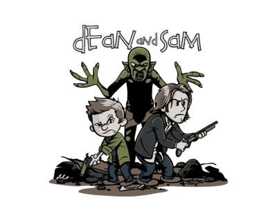 theshirtlistdesigns:  Dean and Sam T-Shirt | $11 Supernatural tee from TeeFury today only!