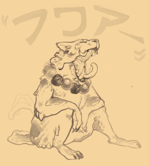 horribullshit:  roughhhh sketch i did of a bakeneko in gabuluu's story setting