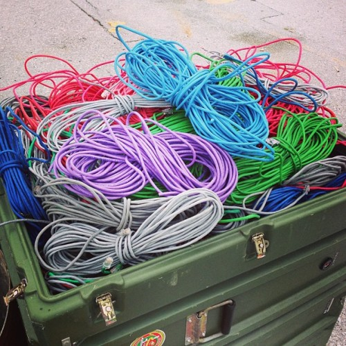 So much cat5e wire…   All being thrown away.  #japanstagram #ethernet