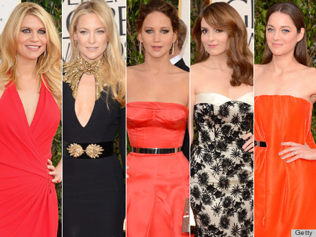 Click through to see the best dresses from the Golden Globes!