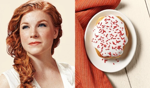digitalash:  madehimsaycomfychairs:  mymodernmet:  In this unique series called Donut Doubles,St. Louis-based photographer Brandon Voges found clever ways to compare people's faces to different types of donuts.  NOW I REALLY WANT TO KNOW WHAT DONUT I WOULD BE  real art
