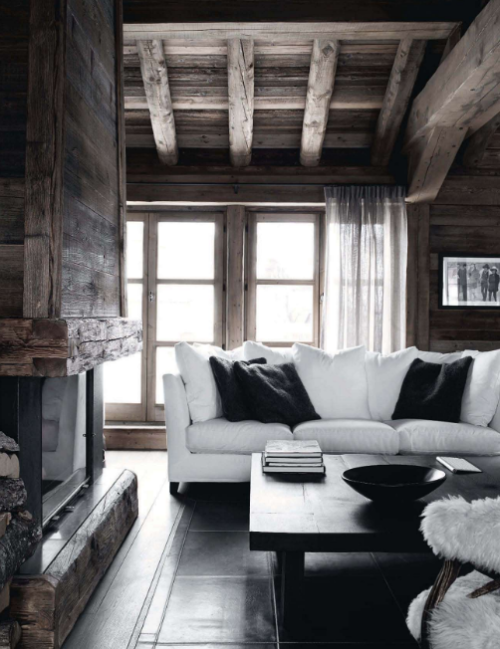 myidealhome:  rustic wood + pure white
