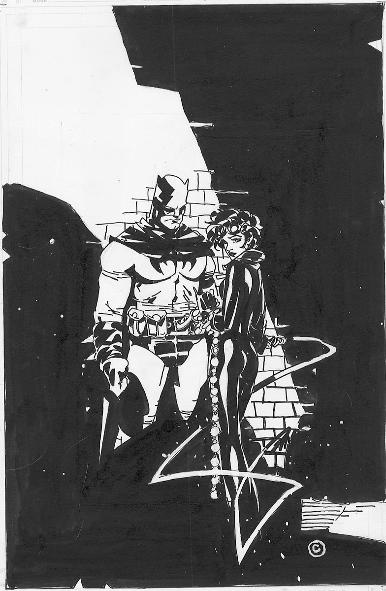 alexhchung:  Batman & Catwoman by Chris Bachalo
