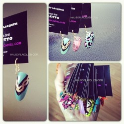 Even my business/promo cards wear accessories. Yup #holoriginal #businesscard #nailart #nailaccessories #promo