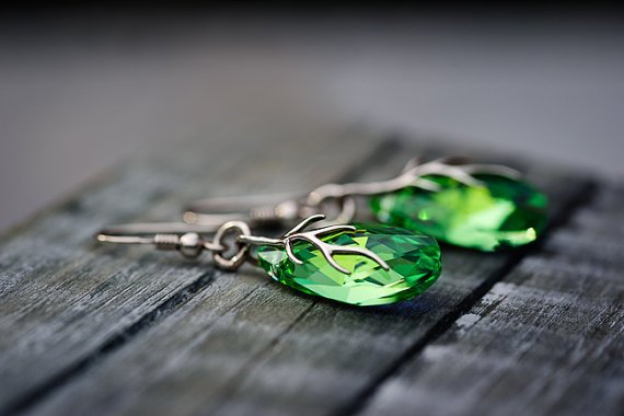 (via Green Almond Shape Swarovski Crystal Summer Chunky by DevikaBox)