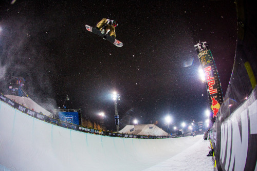 Scotty Lago boosting at X Games Aspen. Start the countdown to X Games Tignes!