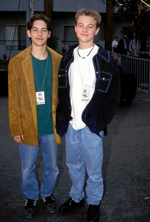 stevenlathrop:  Leo & Tobey in the 90s!