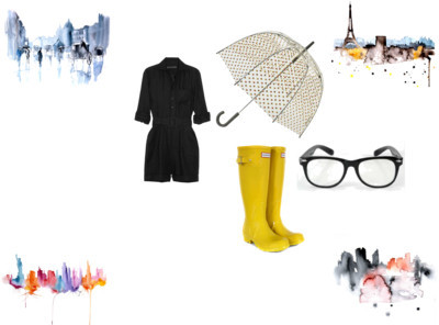 Untitled #63 by springlullaby featuring an orla kiely umbrella
