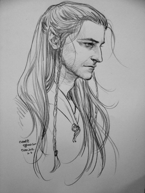 hobbit0125:  Richard Armitage as elf. I thought him as Beleg who loves Turin Turambar.   I don't think elves have beards…