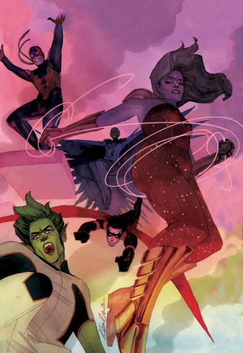 kevinwada:  Teen Titans Issue #5 variant
