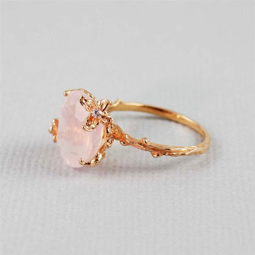 allaboutrings:  Unique Rose Quartz Ring