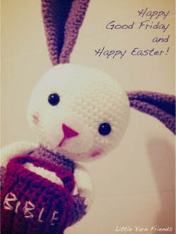 "littleyarnfriends:  Little Yarn Friends wishes all of you a Happy Good Friday and Happy Easter! Thank you to those who've sent us photos of your super adorable Lil' Easter Bunnies and Lil' Moustache Easter Eggs. It is so much fun seeing all the different versions of these Lil' Easter Bunnies and Lil' Moustache Easter Eggs made from different parts of the world. Are you planning to make these little cuties for the occasion too? If you do, don't forget to send us pictures! :) You can find Lil' Easter Bunny's pattern ""Here"" and Lil' Moustache Easter Eggs ""Here"". If you've made other handmade items that are related to Good Friday or Easter, we would love to see them too and share the joy with you! Enjoy your long weekend. May you be greatly blessed, highly favored and deeply loved by the Grace of our Lord!  Lots of Love, Rachel H  (Follow Little Yarn Friends for more updates)"