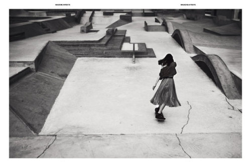 Aymeline Valade skateboarding in Antidote Magazine shot by Jan Welters