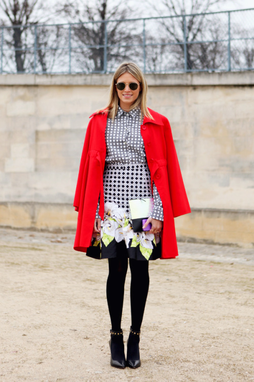 fashion-streetstyle:  (via Street Style: Helena Bordon in Paris)