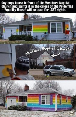collegehumor:  This Guy Knows How to Deal with Westboro Baptist Church It's a good thing Westboro already knows everything about free speech.
