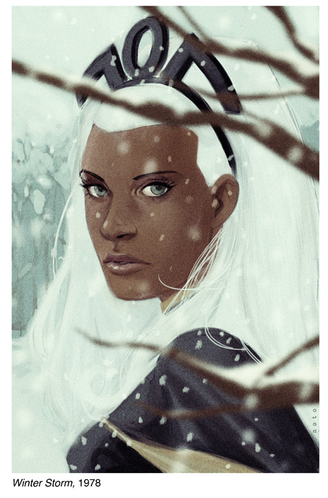From the Hank Pym Photo Archives -  Ororo Munroe, 1978 by philnoto What Noto has done with this beautiful entry in this beautiful set, is extraordinary. He's perfectly captured the slightly translucent quality of 70s photographs. It's lovely.