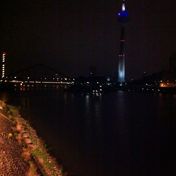 Rhine at night / on Instagram http://bit.ly/13ub2MA