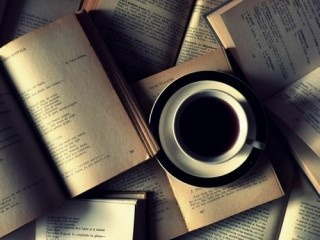 midnightliterati:  coffee and books:)