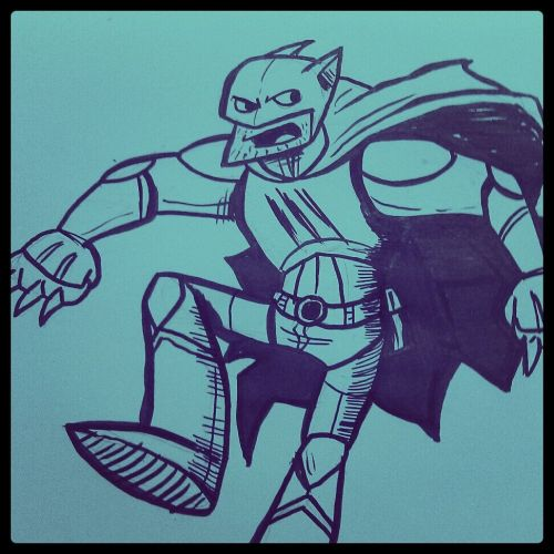 Terrible morning doodle: New 52 Catman? I guess?