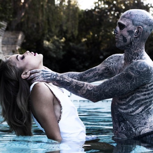 rick-genest-and-jasmine-sanders-shot-by-matt-plunkett-beauty-the-beast. Pic via @hypebeast