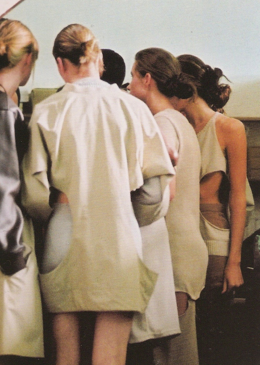 voguelovesme:   Backstage at Ann-Sofie Back, Spring 2003