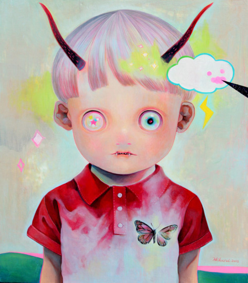 milkstudios:  Devil Child. Hikari Shimoda paints a world of demonically adorable children. See more on Milk Made.