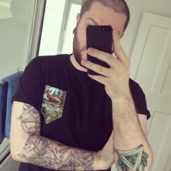 Shameless Selfie! #shamlessselfie #tattoo #tattoos #ink #hxc #pockettee #megzy #ldn #uk #beard