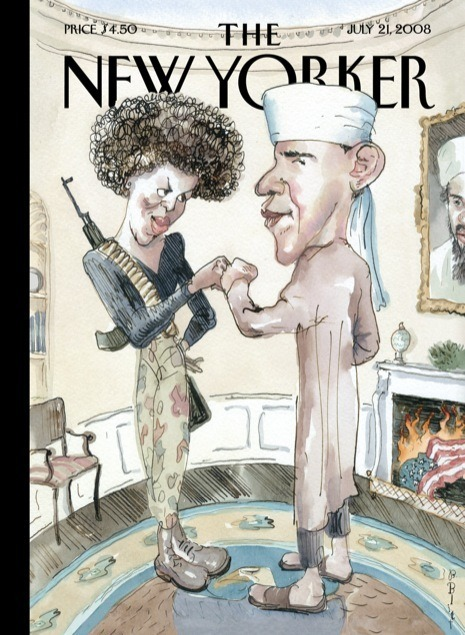 Here's a look back at how our cover artists have depicted the President since 2008: http://nyr.kr/XMWsPp