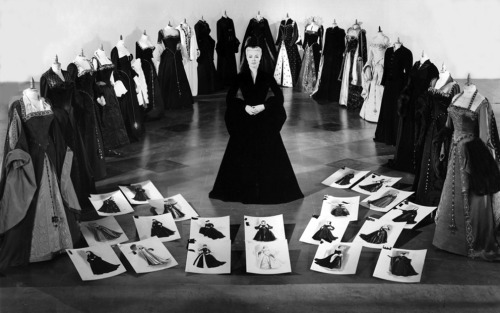 Lana Turner posing with some of the costumes designed by Walter Plunkett for her in Diane, 1956. From A Certain Cinema