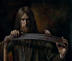 "A brilliant rendering of the ""Master Chronologist"" himself painted by B.A. Vierling."