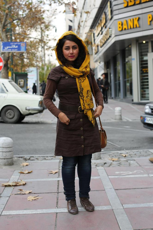 "humansofnewyork:  Seen in Tehran, Iran.  I find it interesting that while this image was taken in Tehran, the one visible word is ""BANK"" in English."