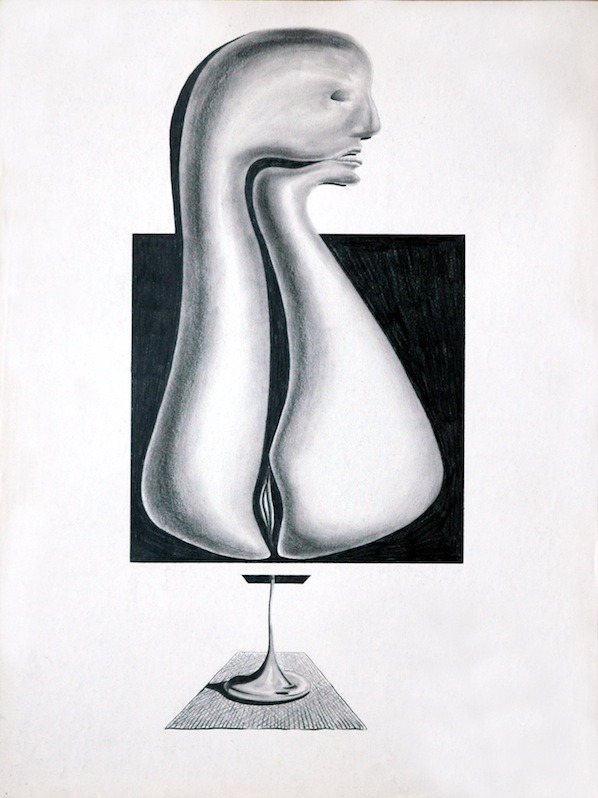 In the Mind of Il by Eddy Howard Smith, 1979-1980. Pencil on paper, 18 x 24 inches.