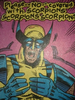 wolvie's such a scaredy cat