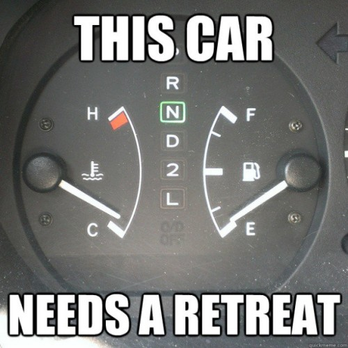 My car needs a retreat. #catholic