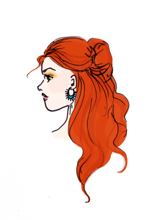 Woo - I've been gone forever! Well, here's a little pretty ginger doodle to say sorry…